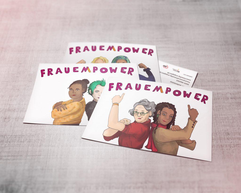 Frauenpower Postkarten